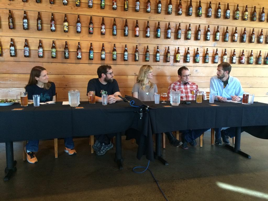 #BCorp brewery panel with fellow @BCorporation: @newbelgium @breweryvivant @beausallnatural @HopworksBeer http://t.co/d2tsypq4Mh