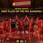 [#FIFA] OFFICIEL ! La Belgique va passer 1ère au prochain classement FIFA ! http://t.co/dhY2aW05wY