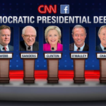 5 candidates. Only one nominee. #DemDebate airs at 8:30pm ET. Follow along: http://t.co/NWaNgnRBwt http://t.co/AuOW3trGke