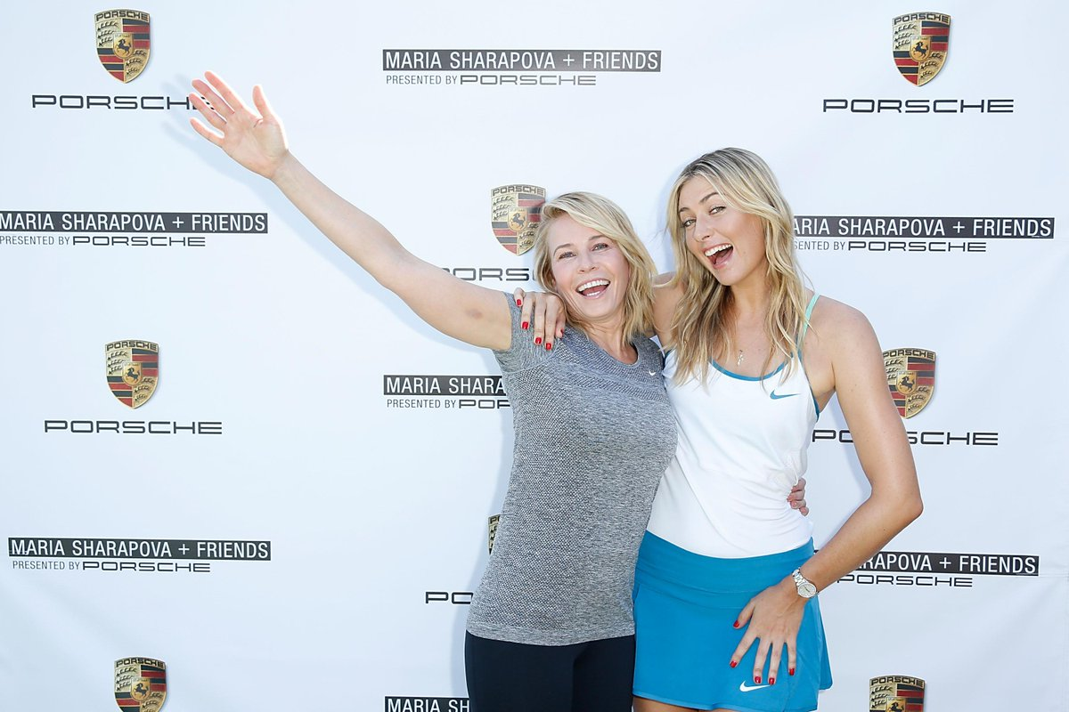 RT @IMGTennis: .@MariaSharapova & @chelseahandler promoting Maria's tennis event on Dec 12-13 @UCLA. Tix at http://t.co/dTNj275ENO http://t…