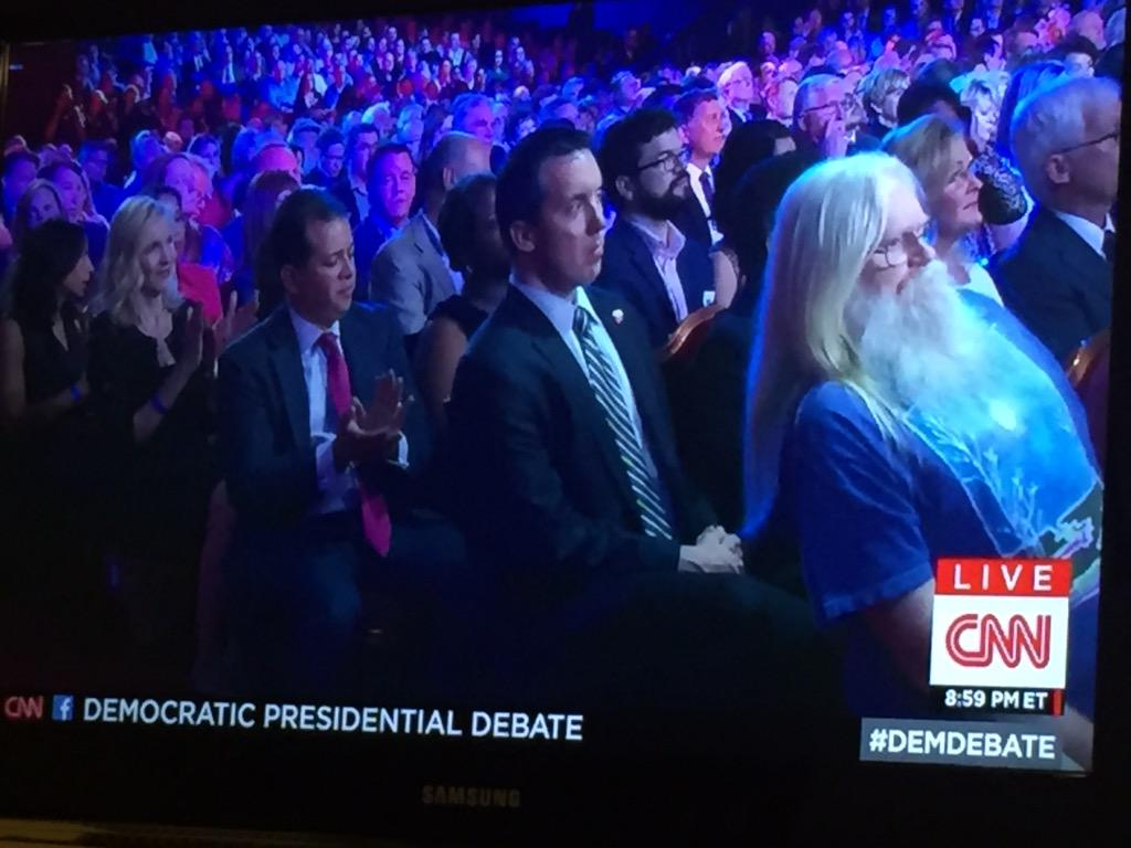 I found the wizard! Did I win? #DemDebate http://t.co/wg24j14F8a