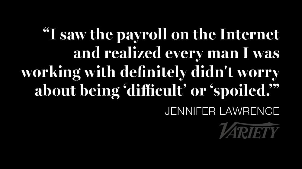 RT @Variety: Jennifer Lawrence blasts the gender pay gap in Hollywood: http://t.co/Qd7dXQMKLw http://t.co/p1radlKgyj
