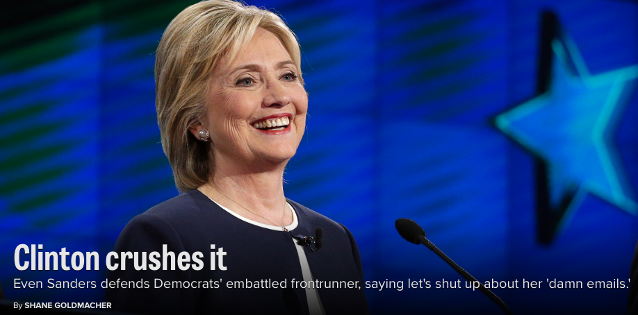 This is the front page of Politico right now #ImWithHer http://t.co/AjInfe3nvs