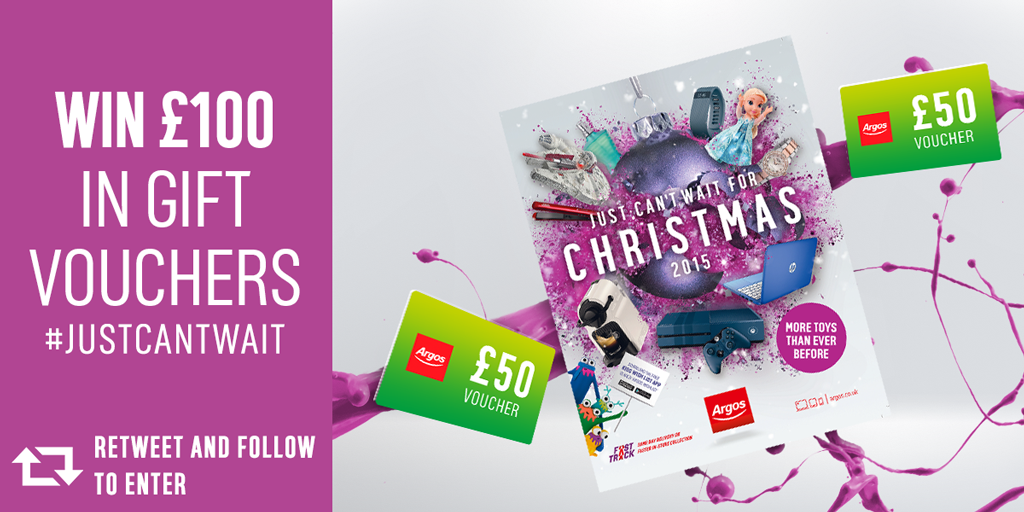 We #JustCantWait for Christmas & our new Gift Guide is out now! RT for a chance to #Win £100 of gift vouchers. http://t.co/H4zkTUbUhr