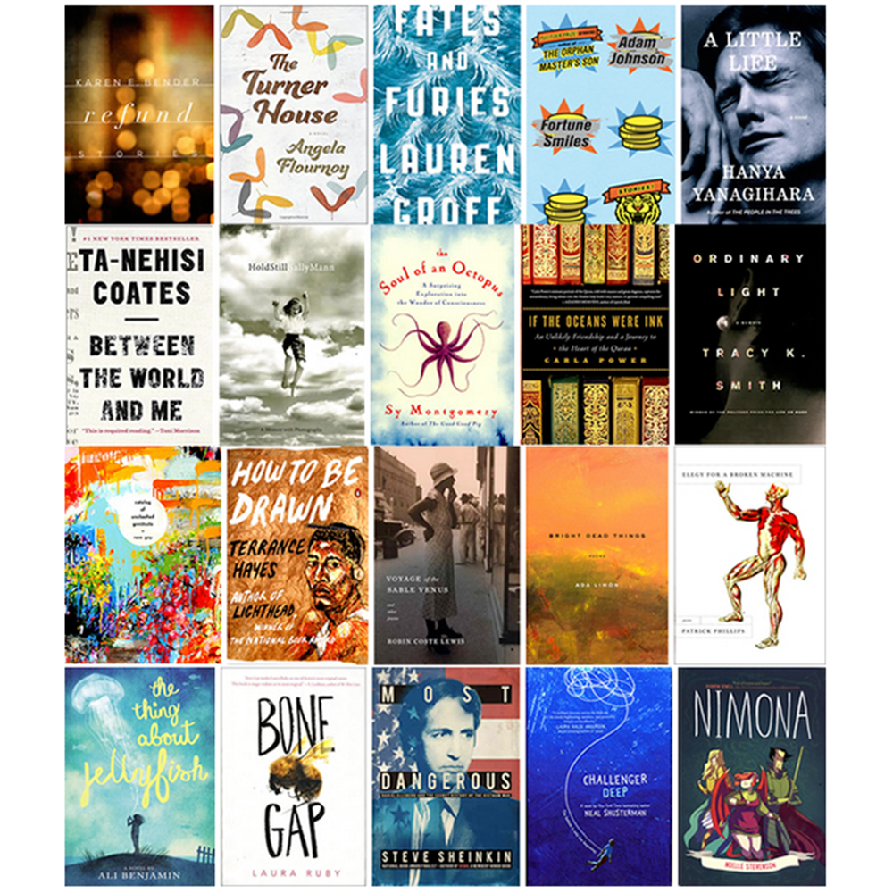 Congratulations to our 2015 National Book Award Finalists! http://t.co/vkioWz99Ri http://t.co/EAfZryeOpr