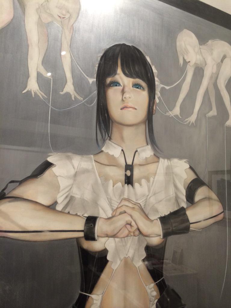 少女病展  http://t.co/9NOaUfWwjj 25日迄。新宿座。  朝倉さんの等身大作品の存在感、写真では伝えられないのでぜひ肉眼で体験されたし。#展示 http://t.co/3ad5XcGGd3