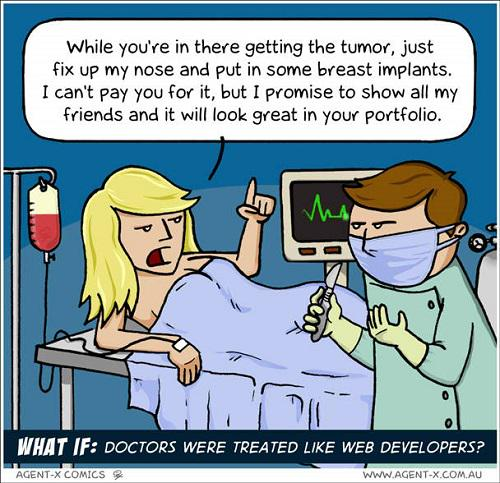 Thankfully, doctors are not treated like web developers..  More here - http://t.co/q2jT8EHWPN http://t.co/rfe3on5FRZ