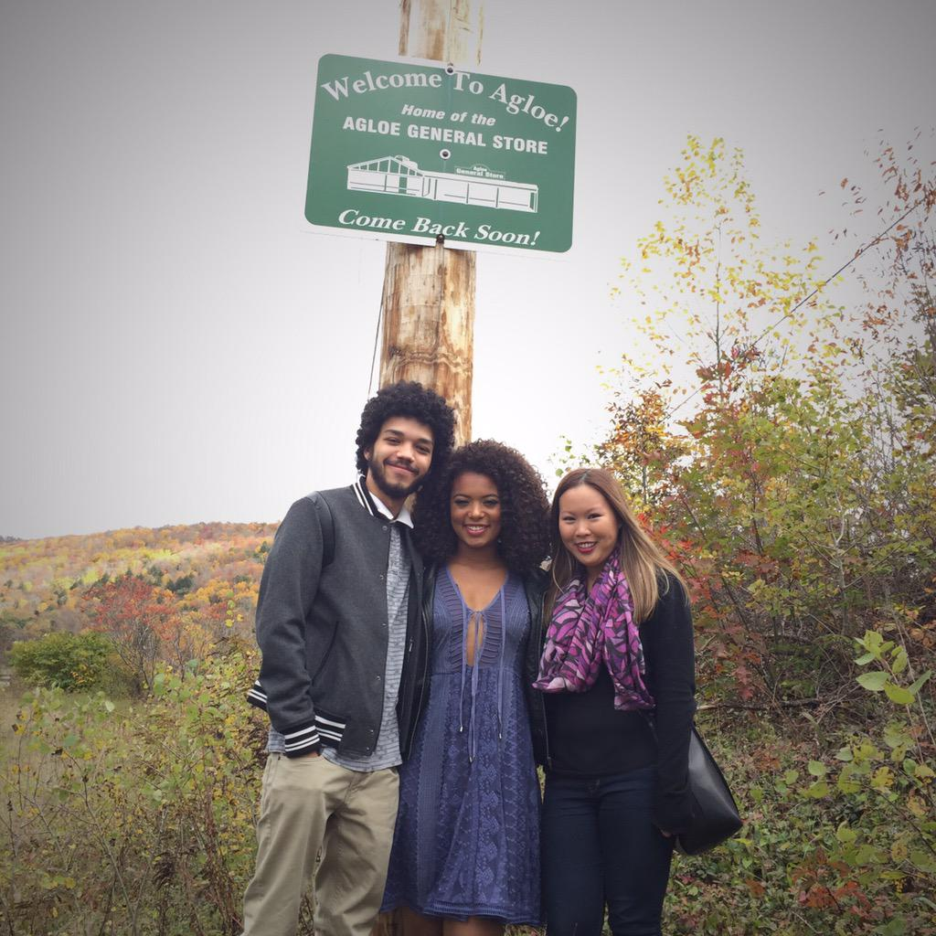 In Agloe, NY! With @JusticetheSmith & @JazSinclair / #PaperTowns @PaperTownsMovie @FoxHomeEnt http://t.co/CSZshn3enE