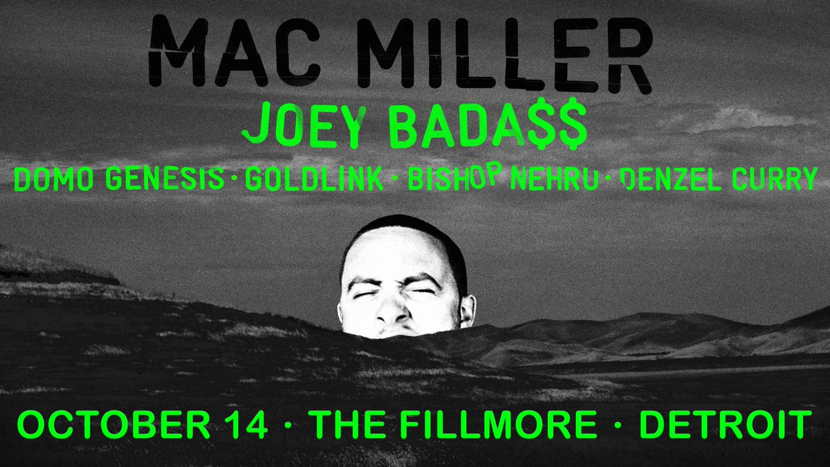 TONIGHT — @MacMiller & @JoeyBadass + more! Doors: 5:30P. Info & tickets: http://t.co/2de5BrwEXw http://t.co/kG2LOT4KyZ