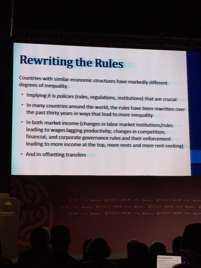 Stiglitz: it's the politics not the economics that create inequality #OECD5WF http://t.co/JBteJ0syb6