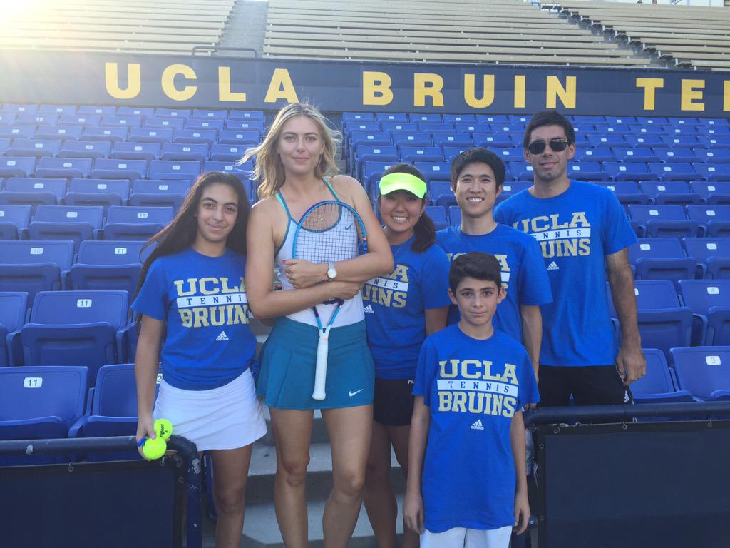 The ball kids getting our practice in for #MariaAndFriends at UCLA. http://t.co/KJgCC6mE9l for all the info http://t.co/YFKh9OqV3S