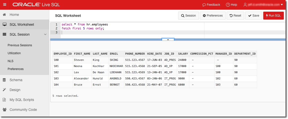 try out new @OracleDatabase 12c syntax FETCH FIRST w/free online scratch pad @oraclelivesql https://t.co/U7eK5fH81C http://t.co/xjXNHmbQ0Z