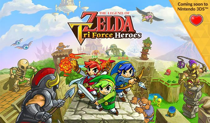 Giveaway! I got 3 codes for Zelda Tri Force Heroes. Follow & RT this to enter. I'll pick winners at 8PM CST tonight. http://t.co/uTcGvoIzDs
