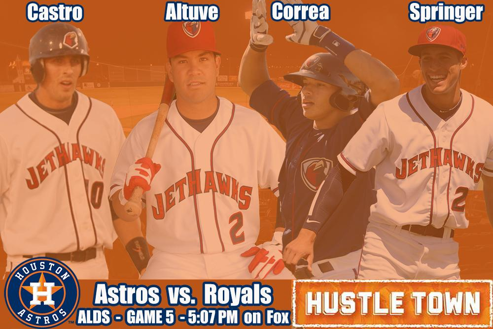 Win or go home for the 7 former #JetHawks who will be in uniform tonight for the @Astros. #RockTheHawk #HustleTown http://t.co/ahdMpVkVqX