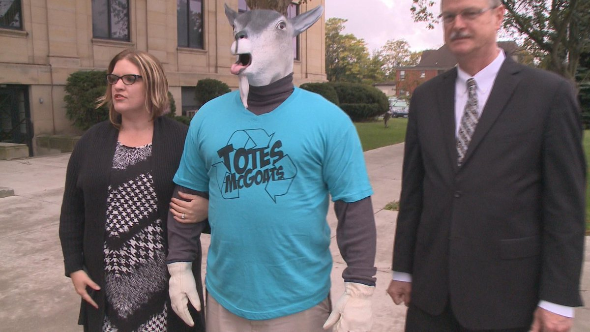 """Niagara Falls has created a new mascot to get kids more involved in recycling. His name? """"Totes McGoats."""" http://t.co/bDxEWgJ0gL"""