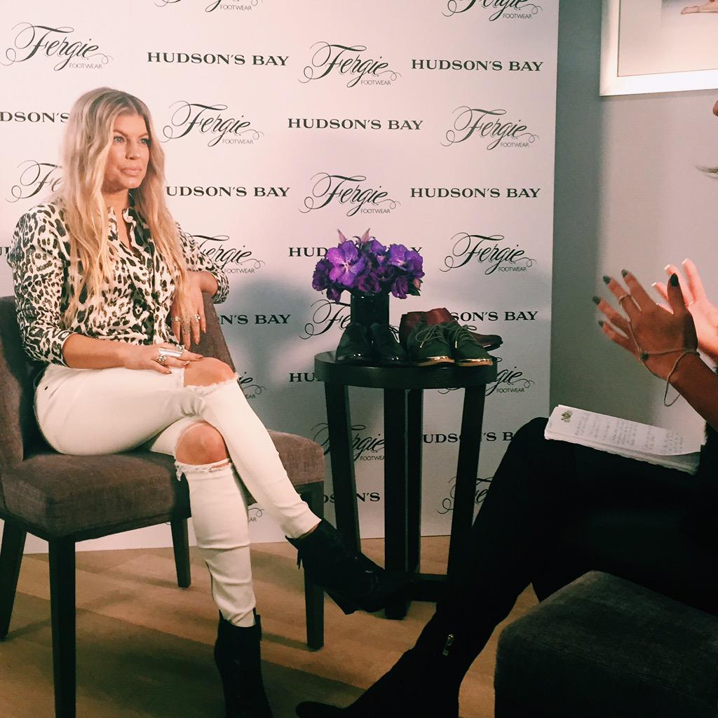 RT @hudsonsbay: We are excited to welcome @fergie for the launch of the F/W @FergieFootwear & @fergaliciousbf collections http://t.co/BgqJA…