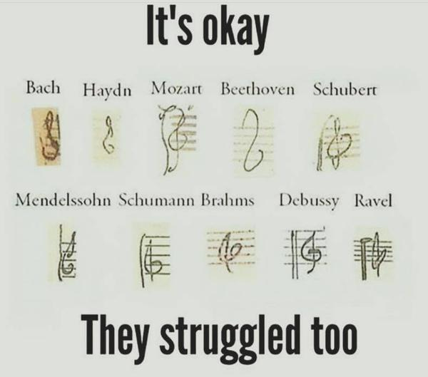 If you have trouble drawing treble clefs, you're in good company. #musiced #musictheory http://t.co/vnSijwGxJe