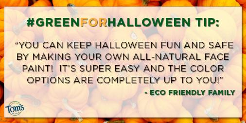 My favorite #GreenforHalloween tip: #DIY face paint! See more details here! http://t.co/1ZLGquzQXh http://t.co/cBrPYR1Vaq