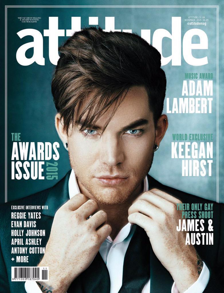 Latest styling work on the cover of @AttitudeMag featuring the super cool @adamlambert ! Wearing @Topman Great shoot http://t.co/1zcRKCdG2y