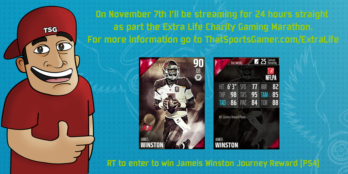 Spread the word about my #ExtraLIfe2015 campaign to win Jameis Winston in MUT [PS4]. http://t.co/mQppY1t7Nw http://t.co/mXT7FeF3fB