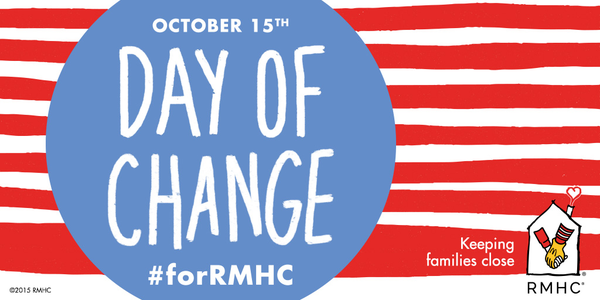 Happy #DayOfChange! Be sure to celebrate by bringing your spare change to @McDonalds #forRMHC families. http://t.co/rwfvE3yfNj