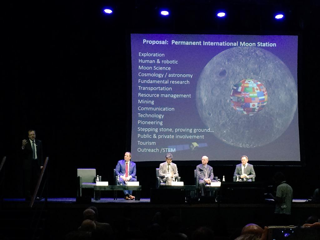 Woerner proposes the successor to ISS should be a permanent international moon station #MoonVillage #IAC2015 http://t.co/yfK1bzIYqr