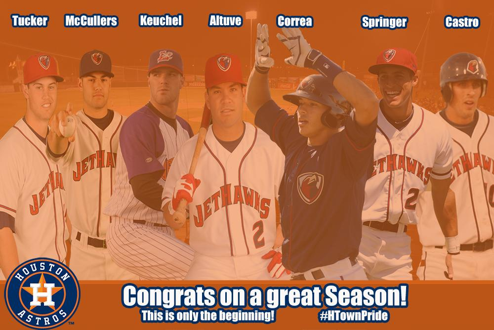 As a proud @Astros affiliate we congratulate our parent club on their amazing success this season #RockTheHawk http://t.co/eynLRJOSKc