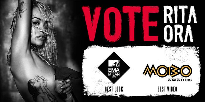 RT @RitaBotsUnited: Vote for our girl @RitaOra for @mtvema & @MOBOAwards! ????  EMA????http://t.co/4EGB1uSpFh  MOBO????http://t.co/C9zE7JRy8f http:/…