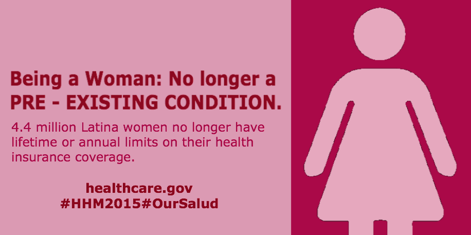 4.4 million Latina women no longer have lifetime or annual limits on their coverage.  #HHM2015 #OurSalud http://t.co/PcYm9ahwWn