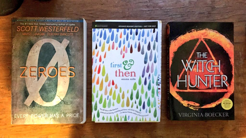 Time to re-home some ARCs!  RT and follow for a chance to win this three book bundle! I'll pick someone on Sat! INT! http://t.co/5uWWMOeQ3U