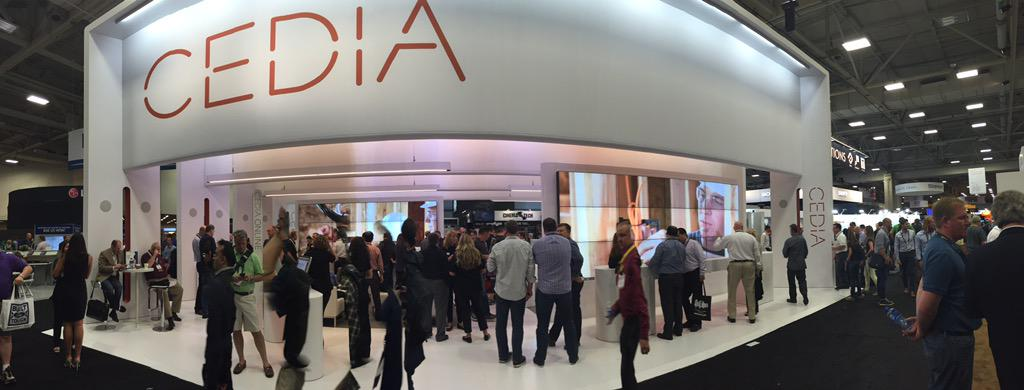 Wrapping up a great opening day at #CEDIA15! See ya'll tomorrow! http://t.co/jSE5lMIbG3