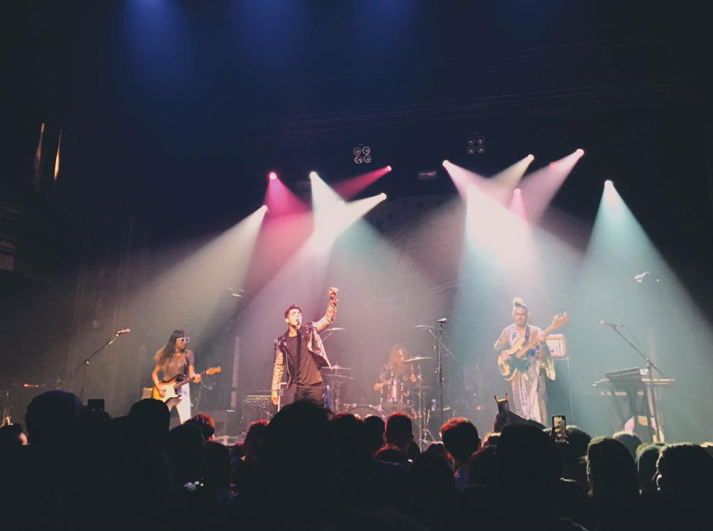 """.@DNCE covered """"Hotline Bling"""" and we can die happily now #CMJ2015 http://t.co/BgJbRifj9e"""