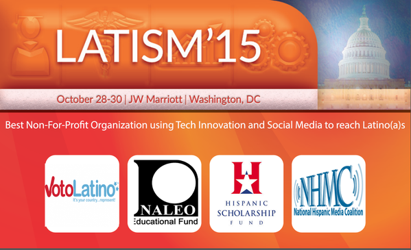 #Best Non-Profit using #Tech to reach Latin@s: @votolatino @NALEO @HSFNews @NHMC #LATISM15 http://t.co/uxqJbydcSn http://t.co/5BmnKwTQc2