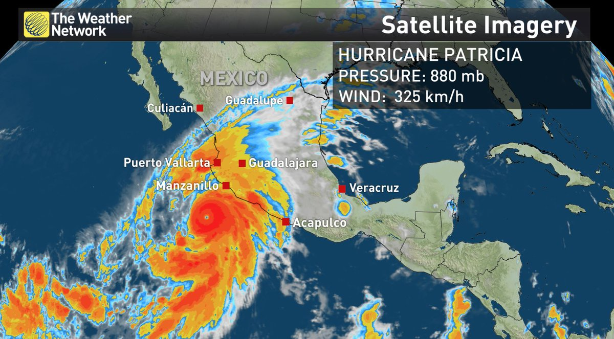 Hurricane #Patricia is a beast.  It's the strongest eastern north pacific hurricane on record!  #Mexico https://t.co/CuK8YyHXGm