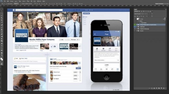 Facebook mobile post mock up