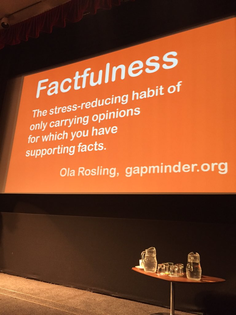 Good advice from @HansRosling #DataDay https://t.co/7dK5kJMr0n