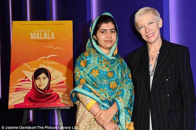 """Annie Lennox attends the premiere of """"He Named Me Malala"""" - https://t.co/w4BqbbwSE9 https://t.co/ZdzKihLCJI"""