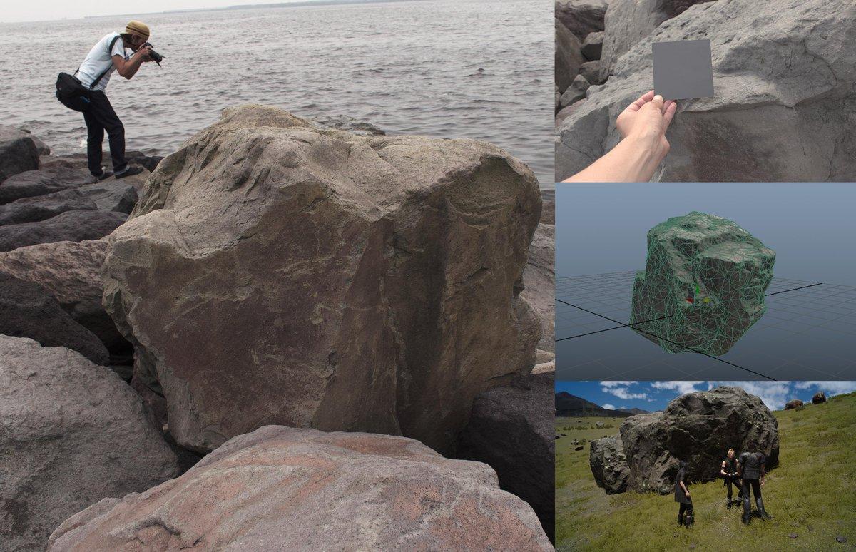 FF15開発スタッフがカッコイイ岩を撮影するために奔走