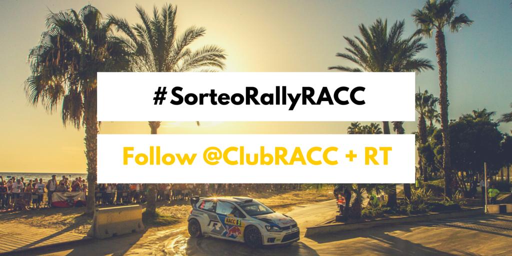 ►Sorteo 2 experiencias #RallyRACC◄ Pase VIP + noche hotel sábado. Participa: Sigue @ClubRACC + RT #SorteoRallyRACC http://t.co/SR19806GIm