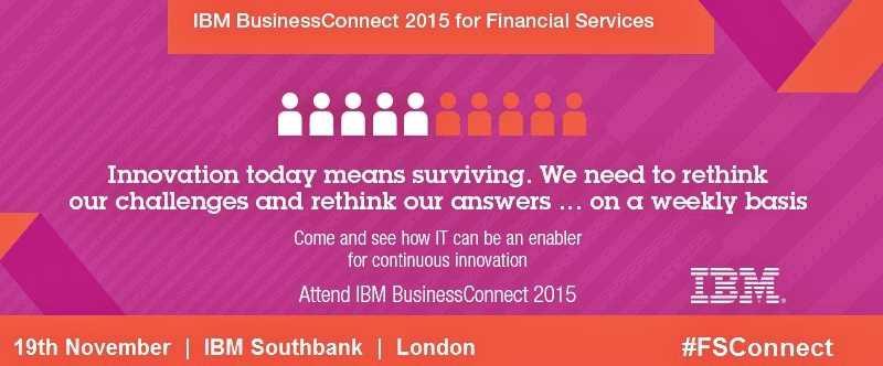 REGISTER #FSConnect event (19/11): Banking Innovation, FinTech, Blockchain, Watson http://t.co/JTxN9ipKPL #IBMBCUKI http://t.co/bHFdygPb5O
