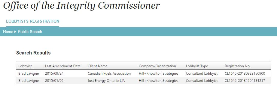 Senior #NDP campaign strategist Brad Lavigne was registered lobbyist for big oil until a few weeks ago #elxn42 http://t.co/YmvCi6afHk