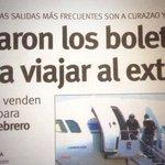 !!COÑO Y NO QUE ESTAMOS EN CRISIS!! CÓMO ES ESO QUE SE AGOTARON LOS BOLETOS AL EXTERIOR #26Ago https://t.co/ii9dIfmvKA #GobiernoFracasado