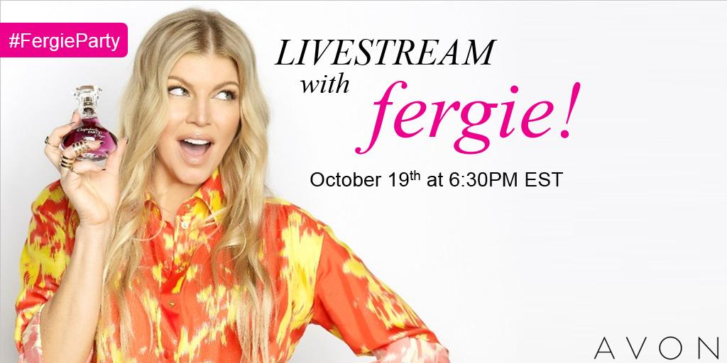 RT @AvonInsider: NEWSFLASH: We're hosting a Livestream w @Fergie on 10/19 @ 6:30PM EST! Tune in: http://t.co/ZRdaMhc3OJ #FergieParty http:/…