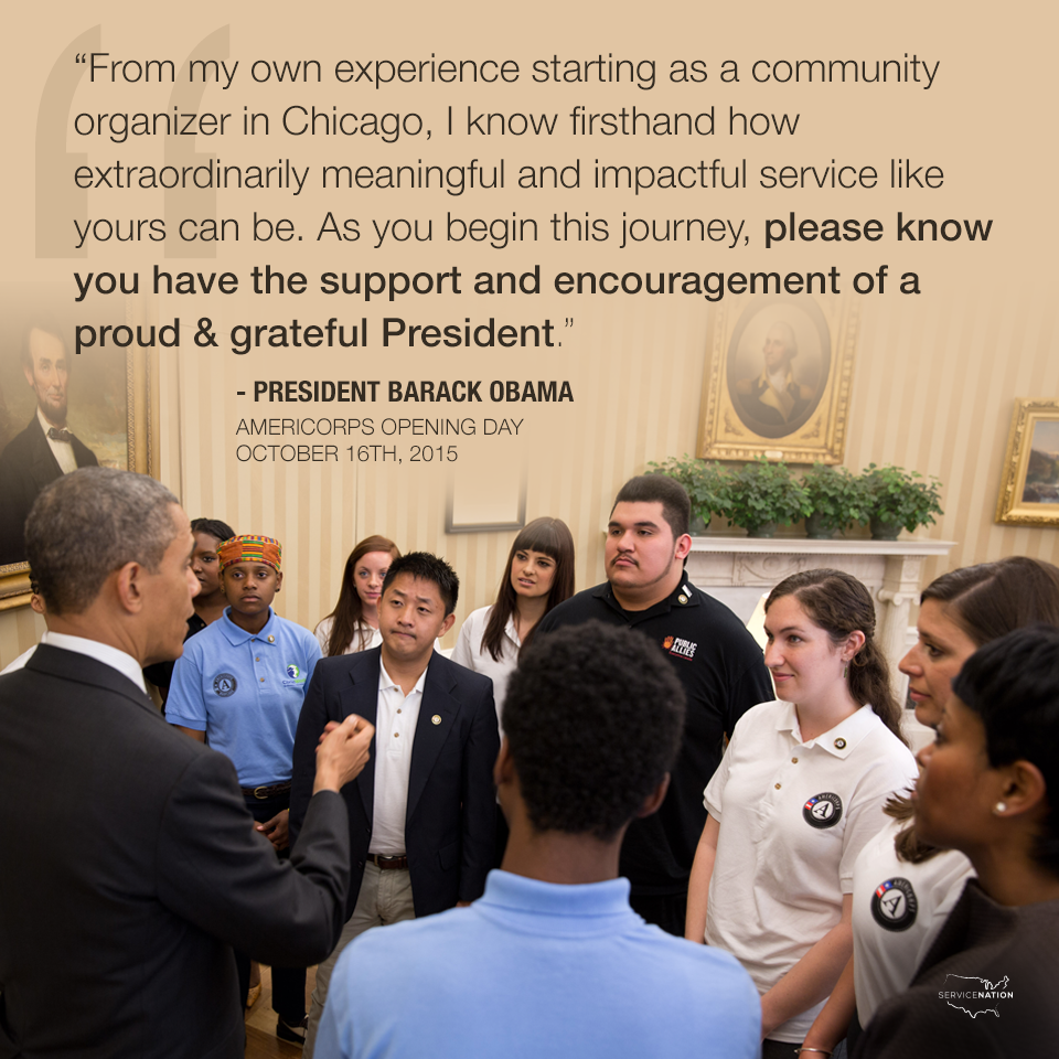 You know you're doing something huge & important if the @POTUS welcomes you Day 1. Happy #AmeriDay everyone! http://t.co/XJuCaoJNV9