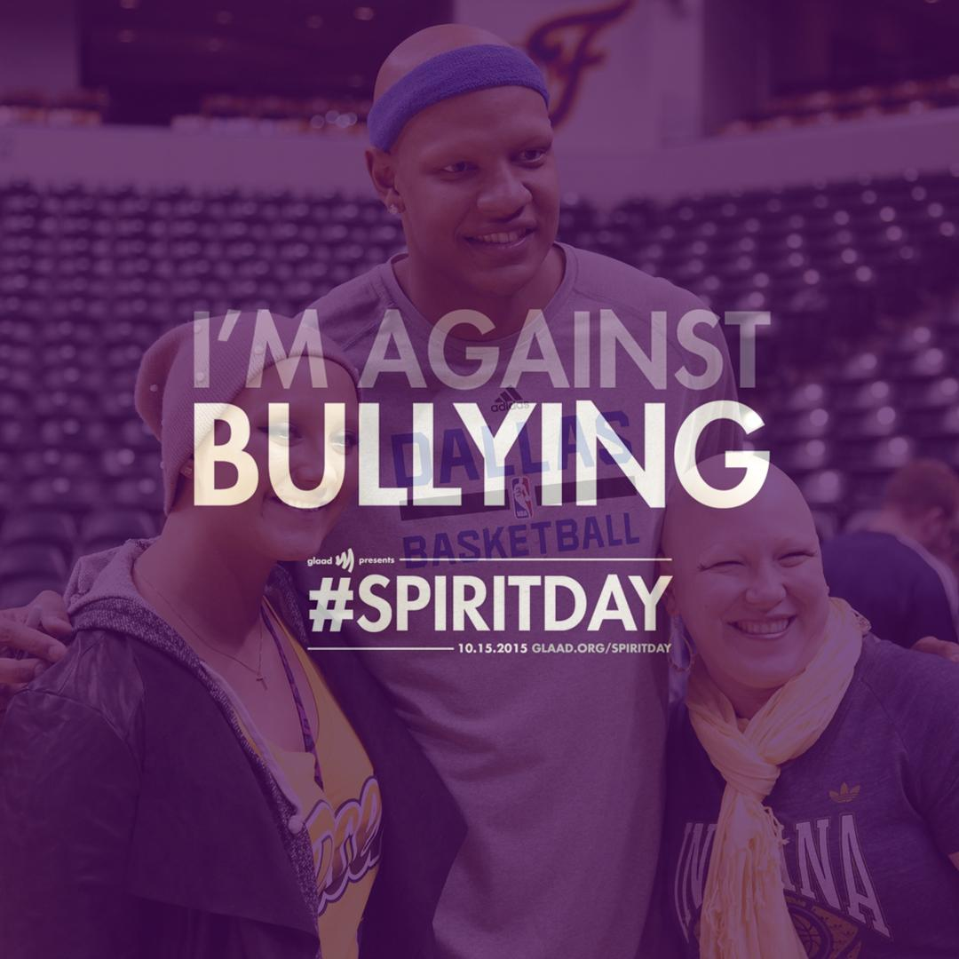 "Love this! @CVBelieve said it best: ""Every day is #SpiritDay."" #antibullying #stopbullying #choosekindness #believe http://t.co/CrlSWg2nJg"