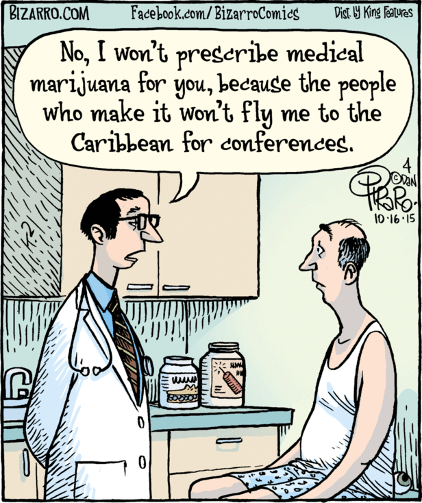 The real reason medical marijuana isn't prescribed more? http://t.co/ofy56w6h9T via @pirarobizarro http://t.co/lIsQlVkjSa