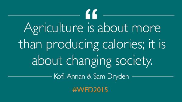 Must-read insight from @AGRAAlliance chair emeritus @KofiAnnan. #WFD2015 #StartsWithFarmers http://t.co/EOCSPP2mO5 http://t.co/SynW3oaqCp