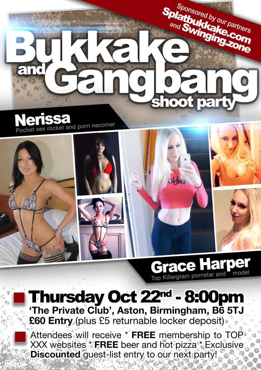 4 pic. #gangbang and #bukkake -THURSDAY 8pm BIRMINGHAM- with and Nerissa >