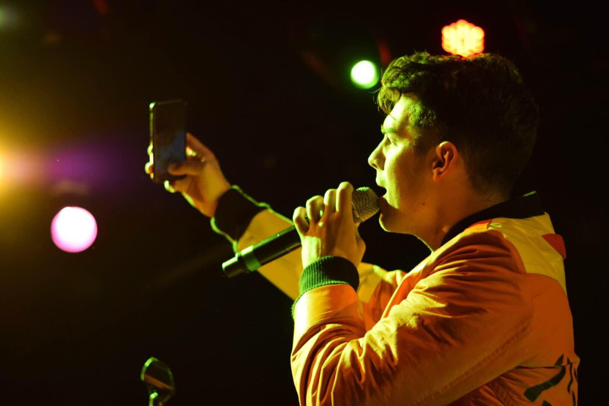 .@joejonas' selfies are on point. @DNCE at the sold out CAA showcase at @Boweryballroom! #CMJ2015 (