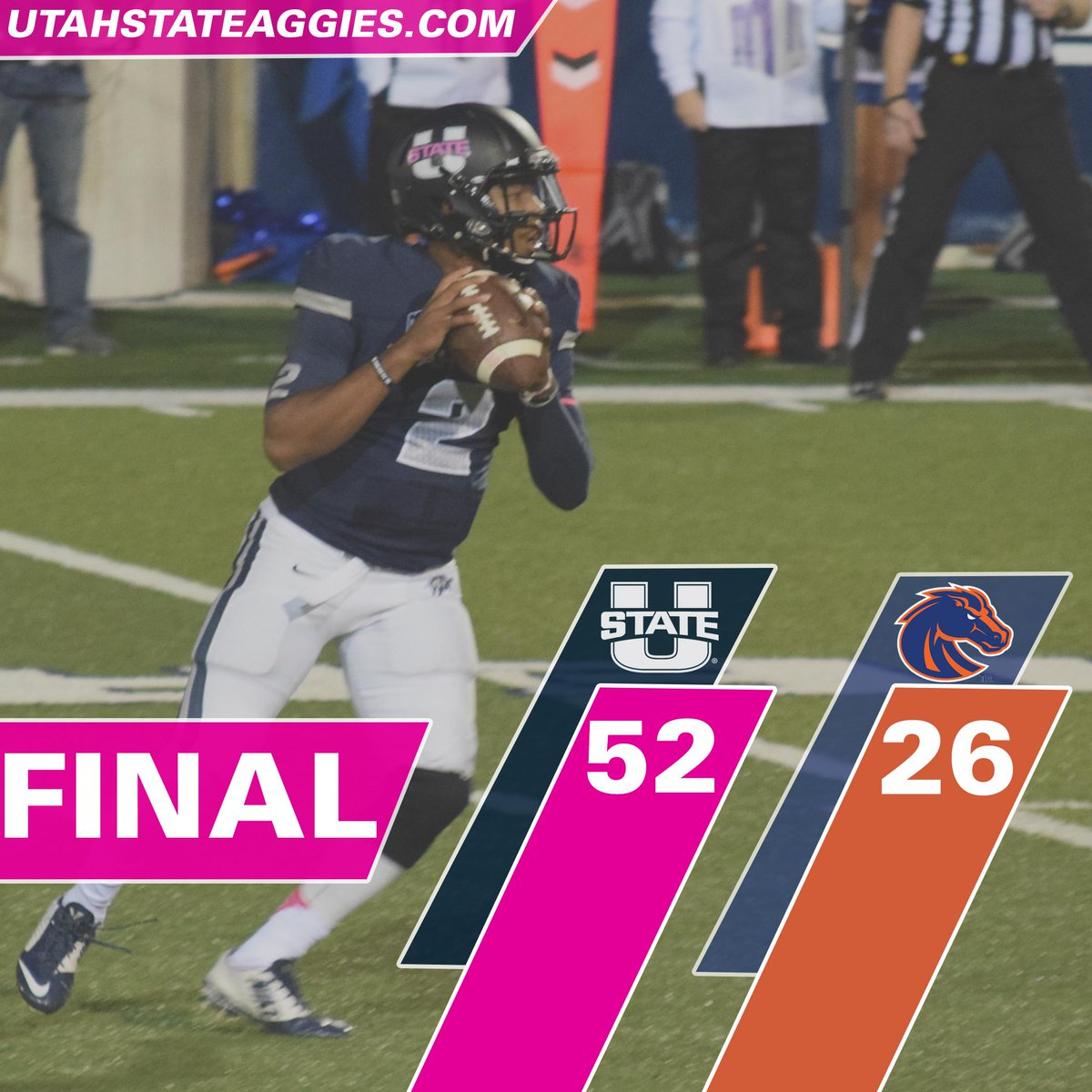 AGGIES WIN!!! @USUFootball beats Boise St. 52-26 to remain unbeaten in the Mountain West! http://t.co/bT2Tz8Nqd1